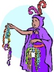 """Most people receive their beads from parade floats; the """"flashing for beads"""" events tend to happen in the French quarter."""