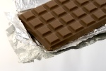 isolated chocolate bar